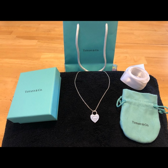 d1222ce5c39f1 Authentic Tiffany & Co. Love Lock Charm Necklace
